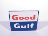 LATE 1950S-EARLY 60S GOOD GULF PORCELAIN PUMP PLATE SIGN
