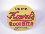 1930S HOWELS ROOT BEER EMBOSSED TIN SODA SIGN