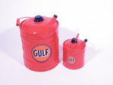 LOT OF TWO 1930S-40S GULF OIL MULTI-FLUID TINS