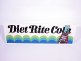 1960S DIET RITE COLA EMBOSSED TIN SIGN