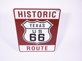 TEXAS HISTORIC ROUTE 66 METAL HIGHWAY ROAD SIGN
