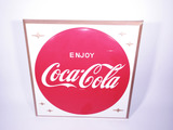 LARGE LATE 1950S-EARLY 1960S COCA-COLA TIN MARQUEE SIGN