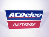 ACDELCO BATTERIES EMBOSSED TIN SIGN