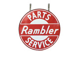 LATE 1950S-EARLY 60S RAMBLER PARTS-SERVICE PORCELAIN SIGN