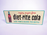 LATE 1950S-EARLY 60S DIET RITE COLA TIN SIGN
