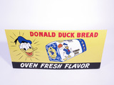 1950S DONALD DUCK BREAD TIN SIGN