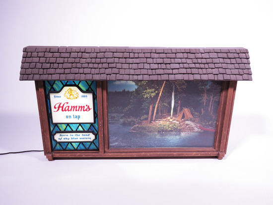 LATE 1950S-EARLY 60S HAMMS BEER SCENE-O-RAMA SIGN