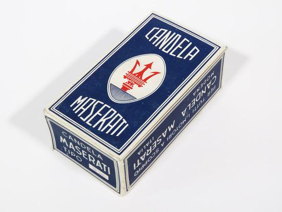 CIRCA LATE 1940S-EARLY 1950S MASERATI SPARK PLUGS DISPLAY BOX