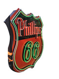 LARGE 1950S PHILLIPS 66 PORCELAIN WITH NEON SIGN