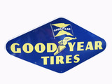 LARGE 1950 GOODYEAR TIRES PORCELAIN SIGN