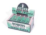 1930S BOWERS SPARK PLUGS COUNTERTOP DISPLAY BOX