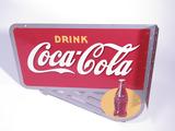 1940S COCA-COLA TIN FLANGE SIGN
