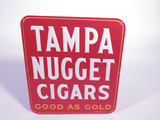 1956 TAMPA NUGGET CIGARS EMBOSSED TIN SIGN