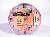 1958 NESBITTS ORANGE SODA LIGHT-UP DINER CLOCK