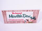 1960S MOUNTAIN DEW SODA TIN SIGN