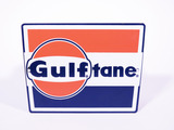 LATE 1950S-EARLY 60S GULF OIL GULFTANE PORCELAIN PUMP PLATE SIGN