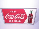 LARGE 1950 COCA-COLA TIN SIGN