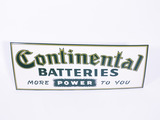 1950S CONTINENTAL BATTERIES EMBOSSED TIN SIGN