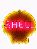 CIRCA 1940S-EARLY 50S SHELL OIL NEON PORCELAIN SIGN