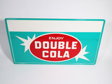 LATE 1950S-EARLY 60S DOUBLE COLA TIN SIGN