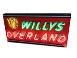 1940S WILLYS OVERLAND NEON PORCELAIN SIGN