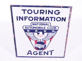 1930S NATIONAL AUTOMOBILE CLUB PORCELAIN SIGN