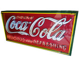 LARGE 1930S COCA-COLA PORCELAIN WITH NEON SIGN