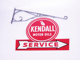LATE 1950S KENDALL MOTOR OILS SERVICE GARAGE SIGN