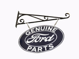 1930S-40S FORD GENUINE PARTS DOUBLE-SIDED TIN SIGN