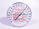1950S-EARLY 60S WAGON WHEEL SALOON THERMOMETER