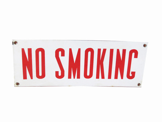"1950S ""NO SMOKING"" PORCELAIN SIGN"