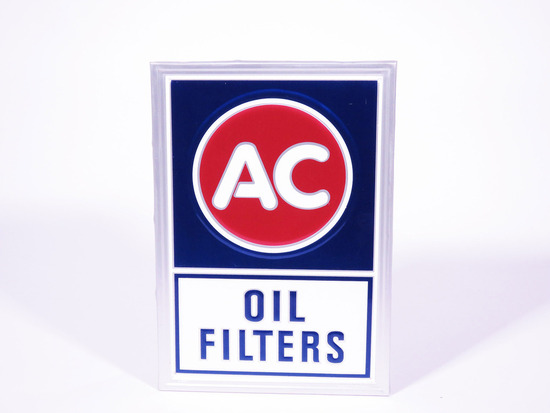 VINTAGE AC OIL FILTERS TIN SIGN