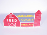 CIRCA 1950S STANDARD'S QUALITY FEED TIN SIGN