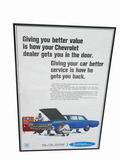 1966 CHEVROLET SERVICE DEALERSHIP DISPLAY POSTER