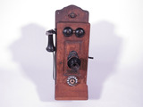 CIRCA TEENS CHICAGO TELEPHONE COMPANY WOODEN TELEPHONE