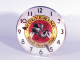 1940S WOLVERINE SHELL HORSE-HIDE SHOES LIGHT-UP CLOCK
