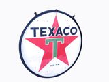 1954 TEXACO OIL PORCELAIN SIGN