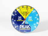 VINTAGE PEAK ANTIFREEZE AND COOLANT DIAL THERMOMETER