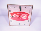 LATE 1950S-EARLY '60S COCA-COLA LIGHT-UP CLOCK
