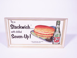 1953 7UP SODA CARDBOARD SIGN