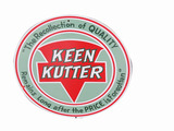 VINTAGE KEEN KUTTER TIN SIGN