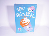 1967 PEPSI SNO BALL EMBOSSED TIN SIGN