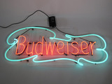 LARGE VINTAGE BUDWEISER NEON SIGN