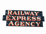 1930S RAILWAY EXPRESS AGENCY PORCELAIN SIGN