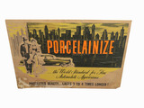 ADDENDUM ITEM - EARLY 1950S PORCELAINIZE CARDBOARD DISPLAY SIGN