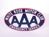 WHITE ROSE MOTOR CLUB AAA PORCELAIN SIGN