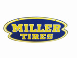 1950S MILLER TIRES TIN SIGN