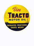 1940S TRACTO MOTOR OIL TIN SIGN