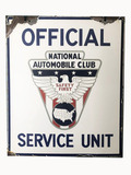 1930S NATIONAL AUTOMOBILE CLUB PORCELAIN SIGN