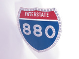VINTAGE INTERSTATE 880 METAL HIGHWAY SIGN
